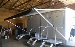 Used Shower Restroom Trailer Doors and Awning