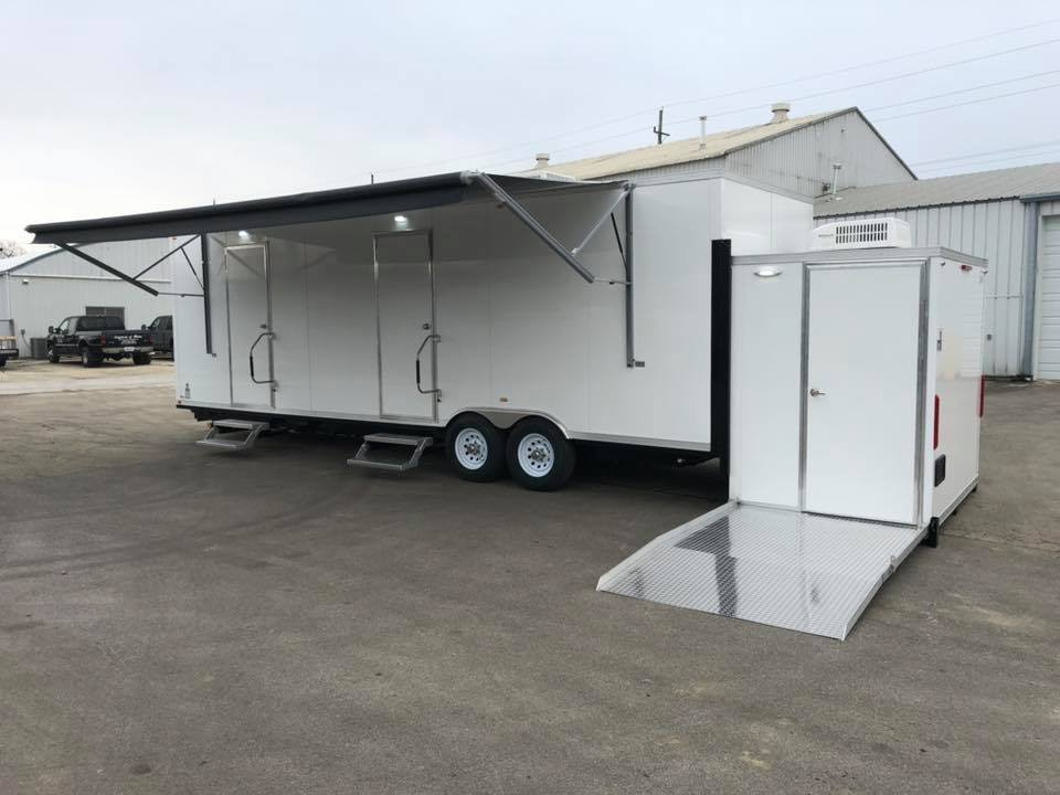 Black Restroom Trailers
